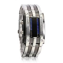 YouYouPifa Men's Stainless Steel Strap Rectangle LED Watches
