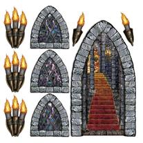 Stairway, Window & Torch Props Party Accessory
