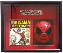 Stan Lee Marvel Comics Signed Spiderman Mask Shadowbox JSA
