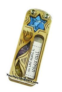 Yourholylandstore Star of David Car Mezuzah with Scroll by