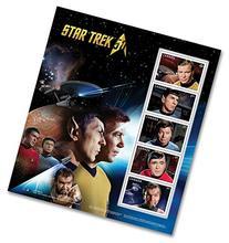 Star Trek 50th Anniversary Pane of 5 - Captain Kirk, Spock,