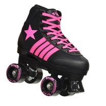 Epic Star Vela Black and Pink Quad Roller Skates