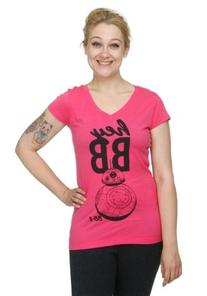 Juniors Star Wars Hey BB V Neck T-Shirt