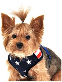 Stars and Stripes American Flag Mesh Harness, Medium, Blue