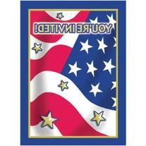 Stars and Stripes Patriotic Invitations, 8-Count