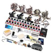 Starter Complete Tattoo Kit 9 Machine Gun Power Supply 50