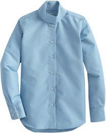 TuffRider Girl's Starter Long Sleeve Show Shirt, Light Blue