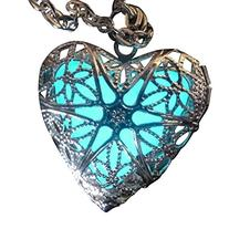 Steampunk Fairy Magical Fairy Glow in the Dark Necklace-aqua
