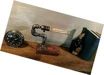 Industrial Steampunk table pipe lamp with Tube Edison bulb