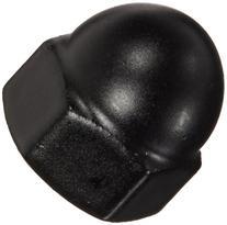 Steel Acorn Nut, Black Powder-Coated Finish, Right Hand