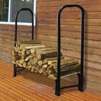 Pleasant Hearth Steel Log Rack with Cover