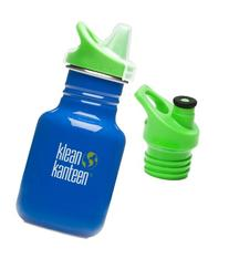 Klean Kanteen 12 oz Stainless Steel Water Bottle with 2 Caps