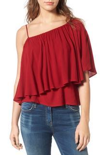 Women's Ella Moss Stella One-Shoulder Crepe Top, Size X-