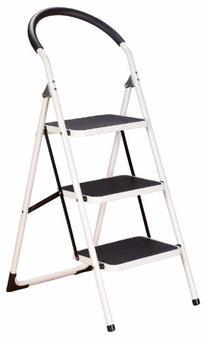 LivingSURE 347701-4325 3 Step Handgrip Ladder Stool Combo,