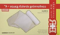 4 in. Sterile conforming gauze roll bandage- 12 per bag