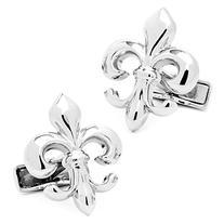 Sterling Fleur di Lis Cufflinks Novelty 1 x 1in