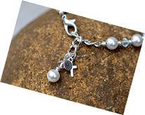 sterling silver hand stamped 5mm charm