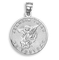 Sterling Silver Saint Michael Medal Protection Charm Pendant