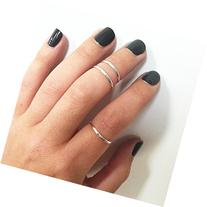 Sterling Silver Midi Ring, Knuckle Stacking Ring, sizes 1-10