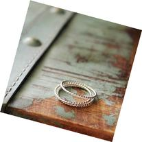 Sterling Silver Skinny Thin Twist Rings - Set of 3