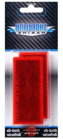 Shoreline Marine Stick-On Trailer Reflector, Reflective Red