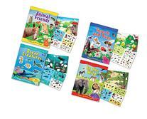 "Childrens Sticker Activity Books - Pack of 4 Books 8.25"" x"