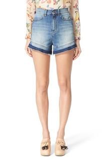 Women's Red Valentino Stone Washed Denim Shorts, Size 29 -