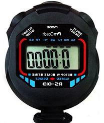 ProCoach RS-013 Water Resistant Sports Stopwatch with Time