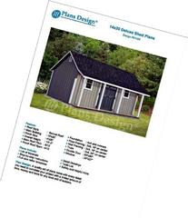 14' x 20' Storage Shed with Porch Plans for Backyard Garden