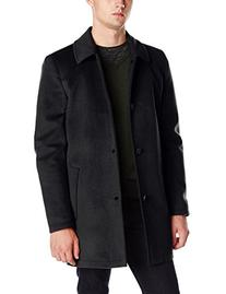 Vince Camuto Men's Storm System Melton Car Coat with Water