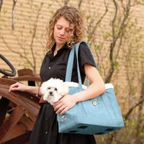 Kurgo Stowe Pet Carrier Shoulder Bag, Blue