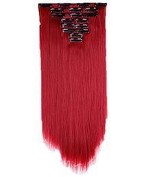 "S-noilite® 23"" Straight Dark Red Full Head Clip in Hair"