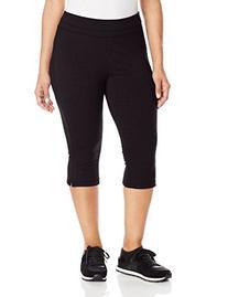 Spalding Women's Plus-Size Straight Leg Crop Pant, Black, 1X