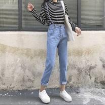 Strappy Wide Leg Jeans