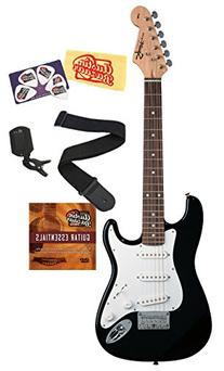 Squier by Fender Mini Strat Electric Guitar Bundle with Clip
