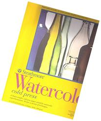 "Strathmore Watercolor Cold Press Paper Pad 11""X15""-12 Sheets"