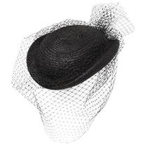 Federica Moretti Women Straw Hat W/ Small Veil