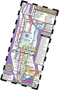 Streetwise Manhattan Bus Subway Map - Laminated Metro Map of