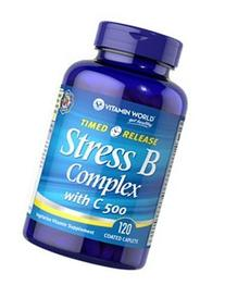 Vitamin World Stress B Complex with C-500 Time Release, 120-