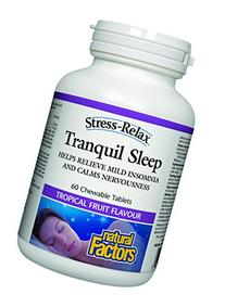 Natural Factors - Stress-Relax Tranquil Sleep, 5-HTP,