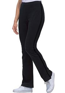 Women's Plus Size Stretch Bootcut Yoga Pants With Side