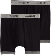 Champion Men's 2-Pack Performance Stretch Boxer Brief, Black