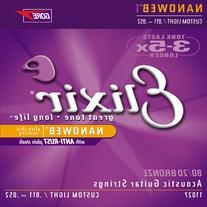 Elixir 11102 Medium Nanoweb Acoustic Guitar Strings