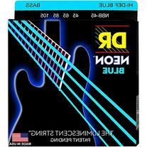 DR Strings Hi-Def NEON Blue Coated Medium 4-String  Bass