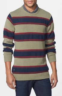 Men's O'Neill 'Hayes' Stripe Crewneck Sweater Navy Large
