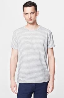 Men's A.P.C. Stripe Crewneck T-Shirt Grey Small