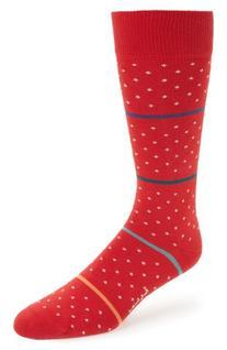 Men's Paul Smith Stripe & Dot Socks, Size One Size - Red