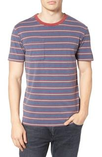 Men's Brixton Stripe Pocket T-Shirt, Size XX-Large - Blue