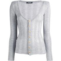 Balmain - striped cardigan - women - Wool - 36