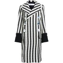 Victoria Beckham - striped double breasted coat - women -